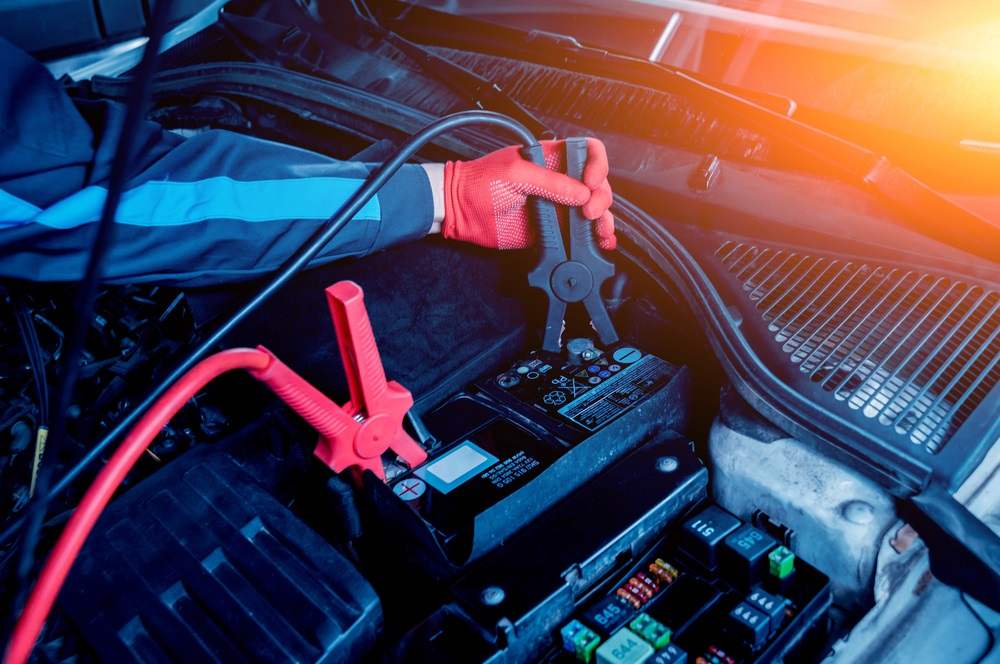 Mechanic Testing Car Battery Ampage